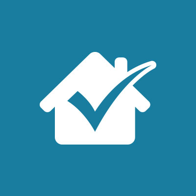 house with check mark to show quality products used on your home